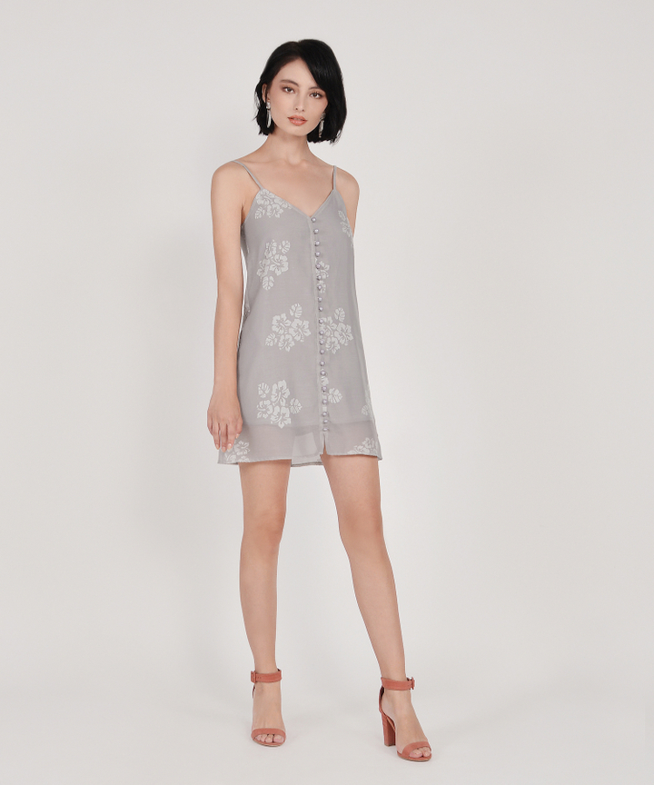 Nightingale Organza Dress - Pale Grey