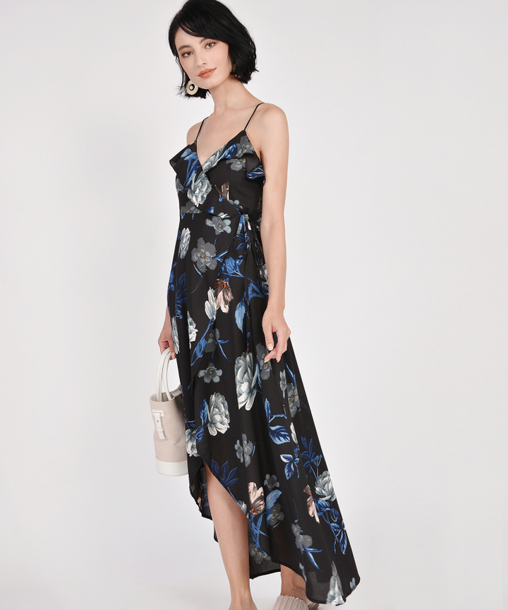 Kimora Floral Overlay Maxi Dress - Black (Restock)