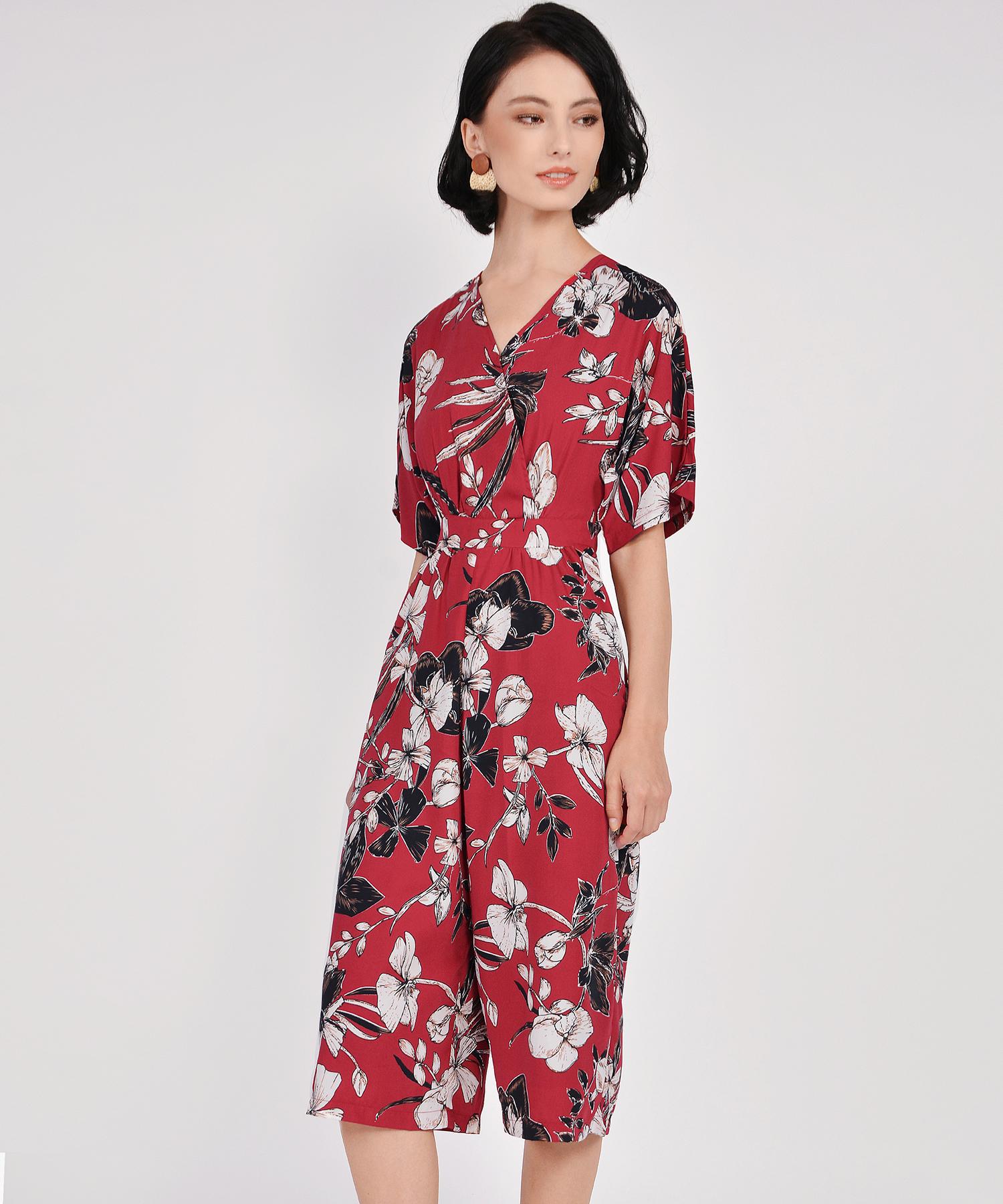 5ad65dcb13de ... Fiore Kimono Culotte Jumpsuit - Crimson. Local Shipping Rates