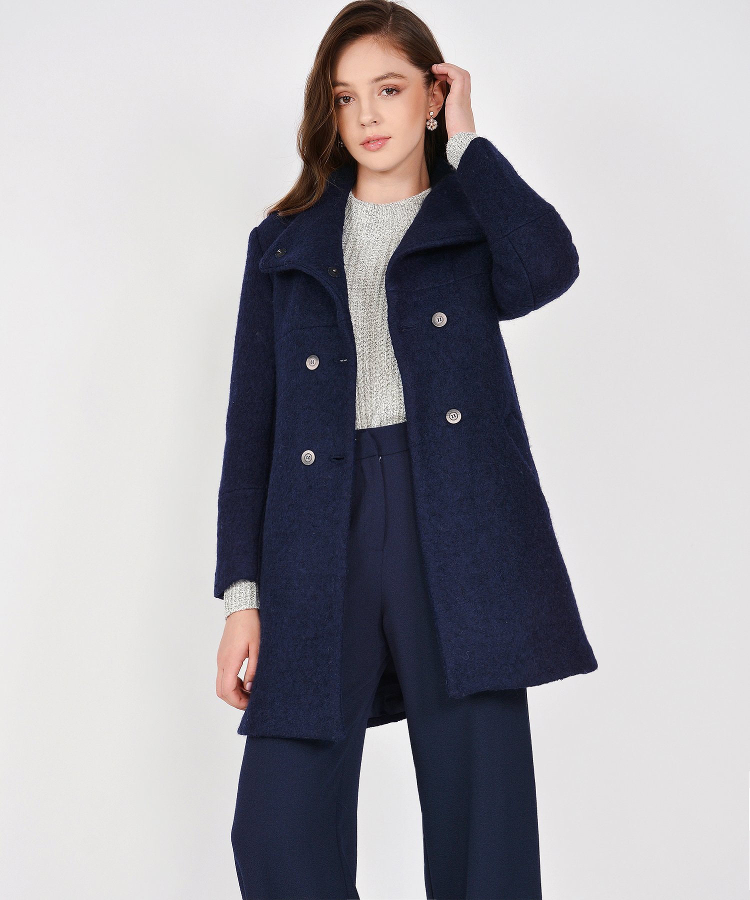0ae40647c84e Aurora Classic Wool Coat - Navy