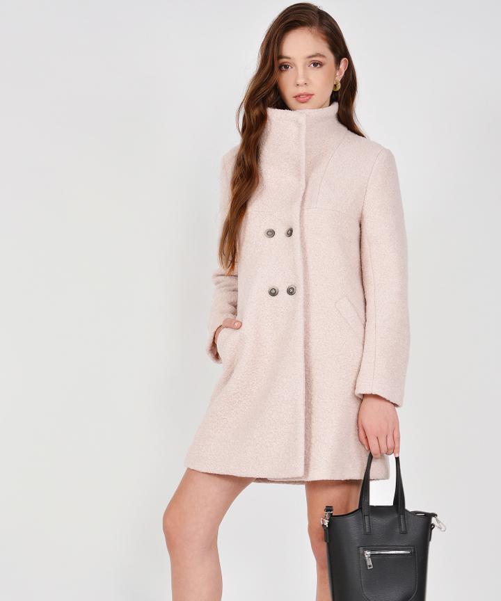 Aurora Classic Wool Coat - Nouge (Restock)