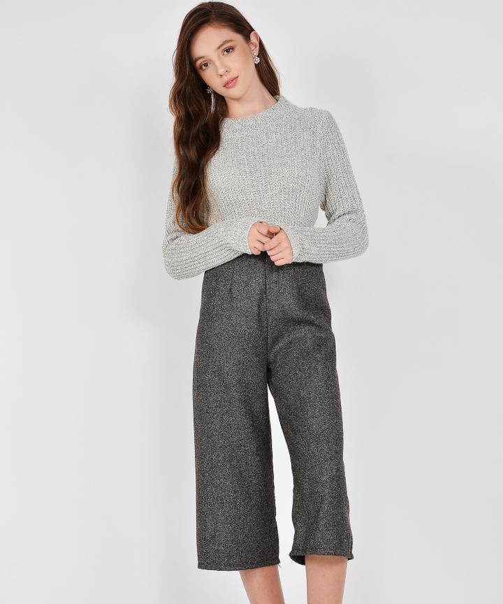 Winslow Knit Sweater - Pale Grey