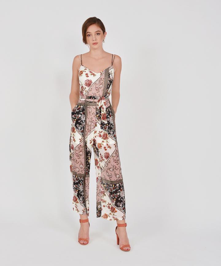 Amaryllis Printed Jumpsuit - White
