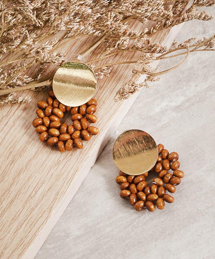 Jubilee Earrings - Brown