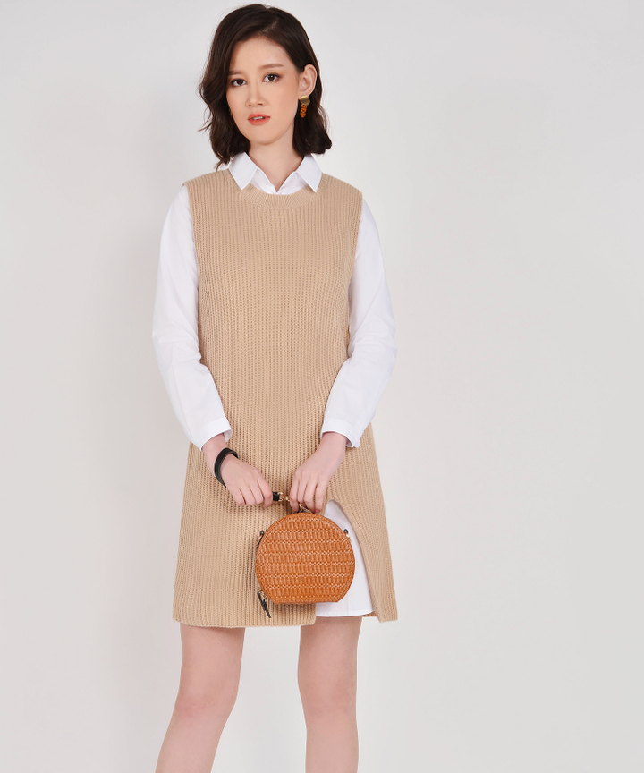 Cassidy Knit Vest - Beige