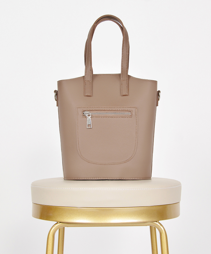 Kinsley Hand Bag - Taupe Brown