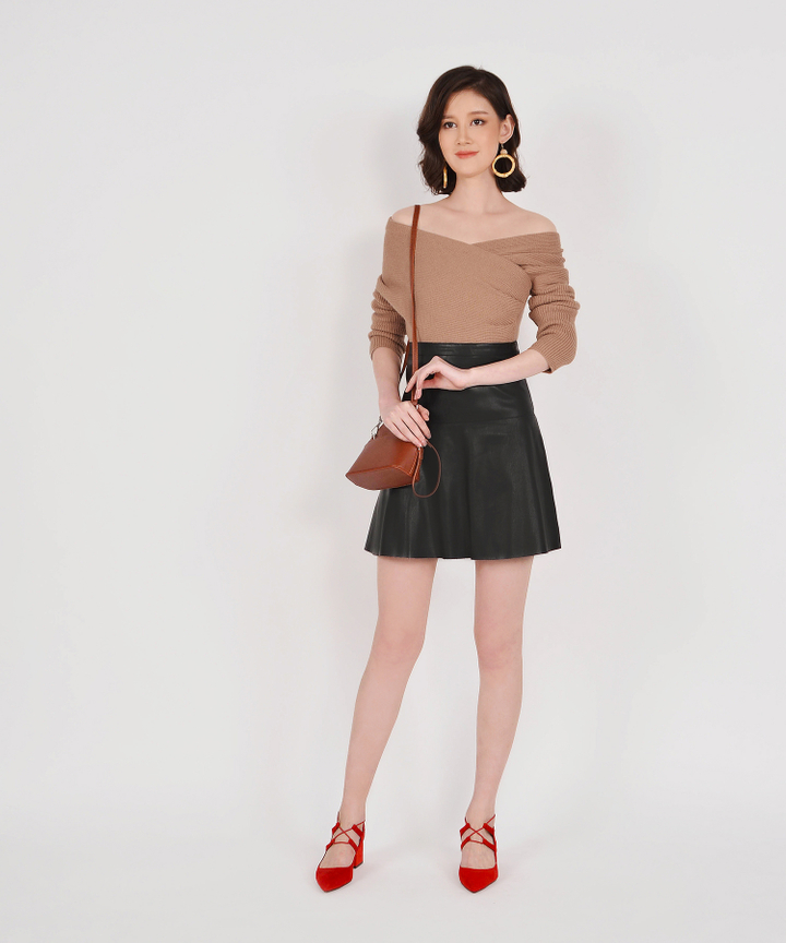 Talon Pleather Skirt