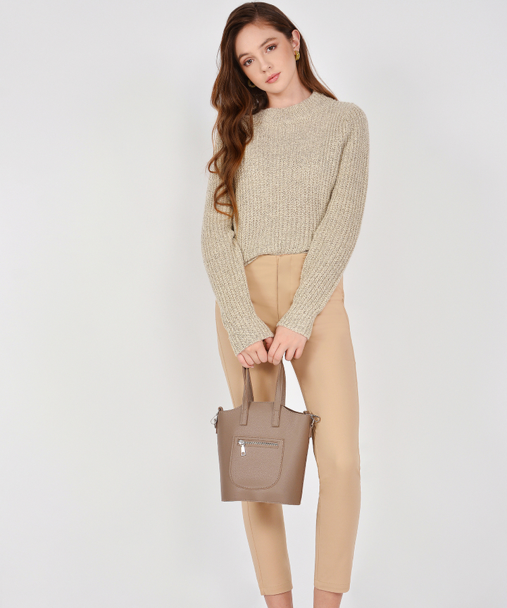 Winslow Knit Sweater - Pale Khaki