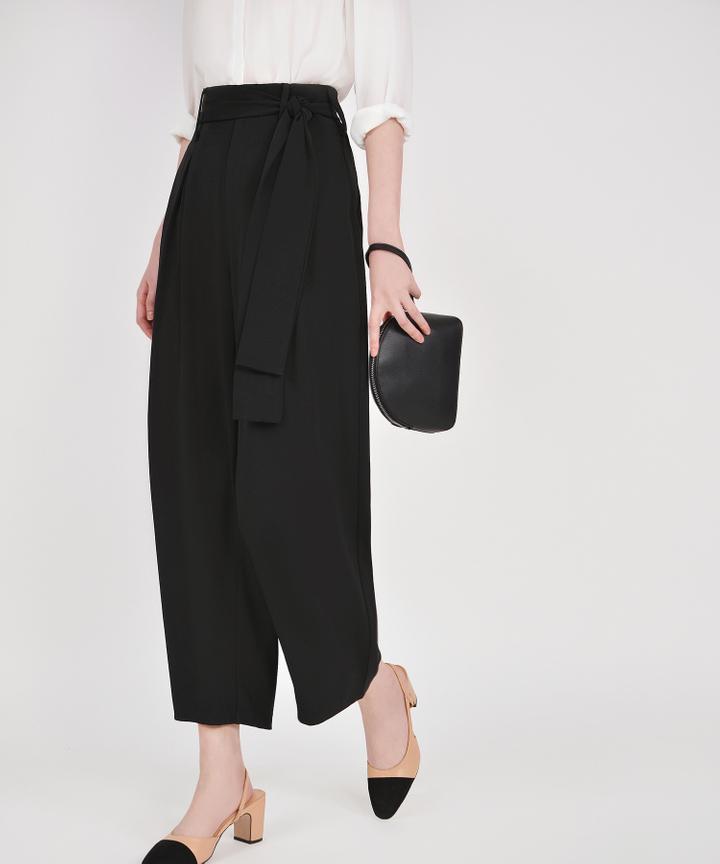 Bronwyn High Waisted Trousers - Black