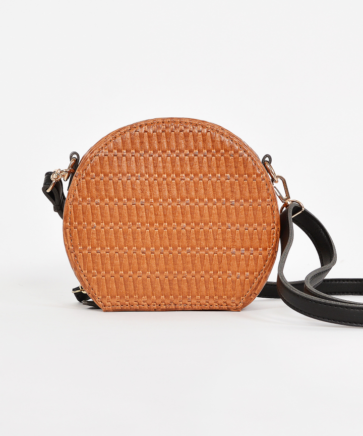 Ezra Woven Bag - Brown