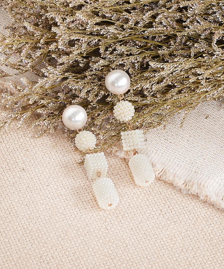 Quadruple Pearl Drop Earrings