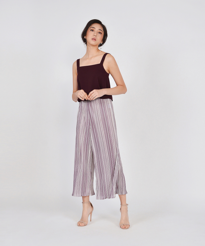 Paloma Flared Top - Maroon