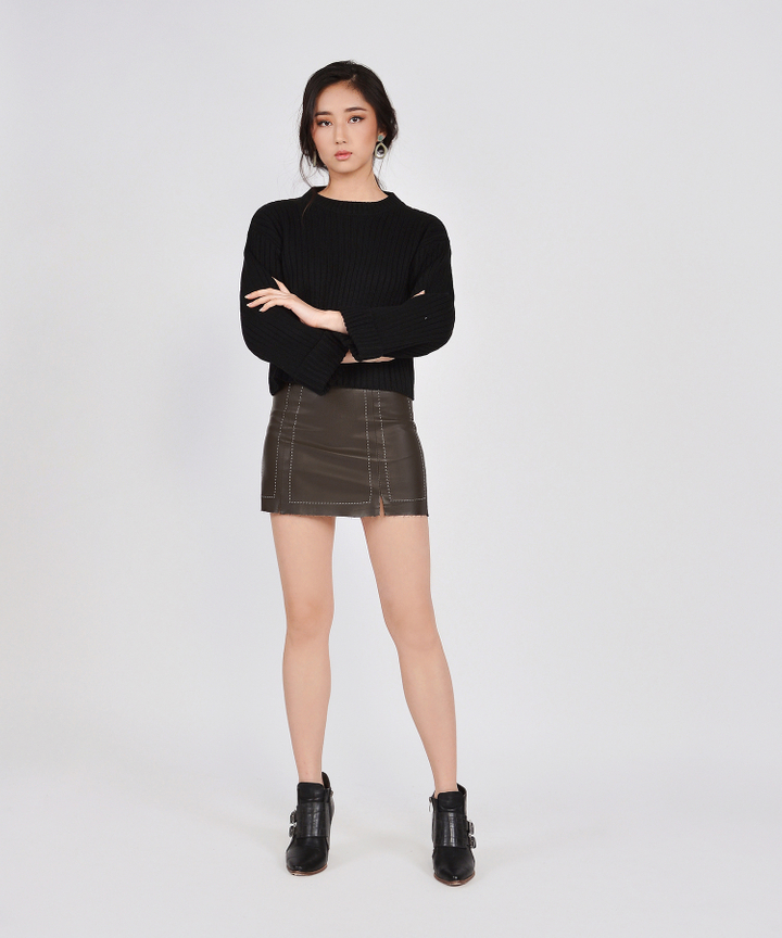 Solo Pleather Skirt