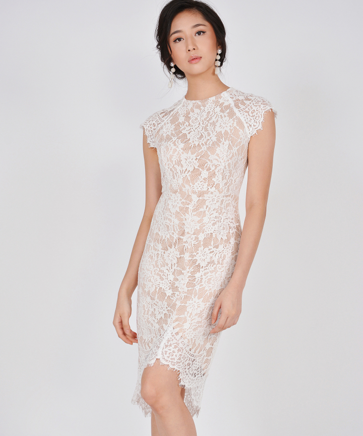 Ethereal Lace Midi - White (Restock)