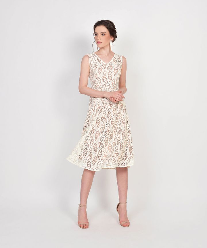 Karina Lace Midi - Off White