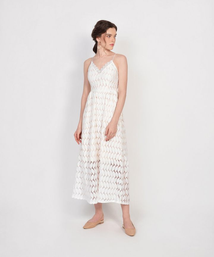 Luxembourg Lace Maxi Dress - White