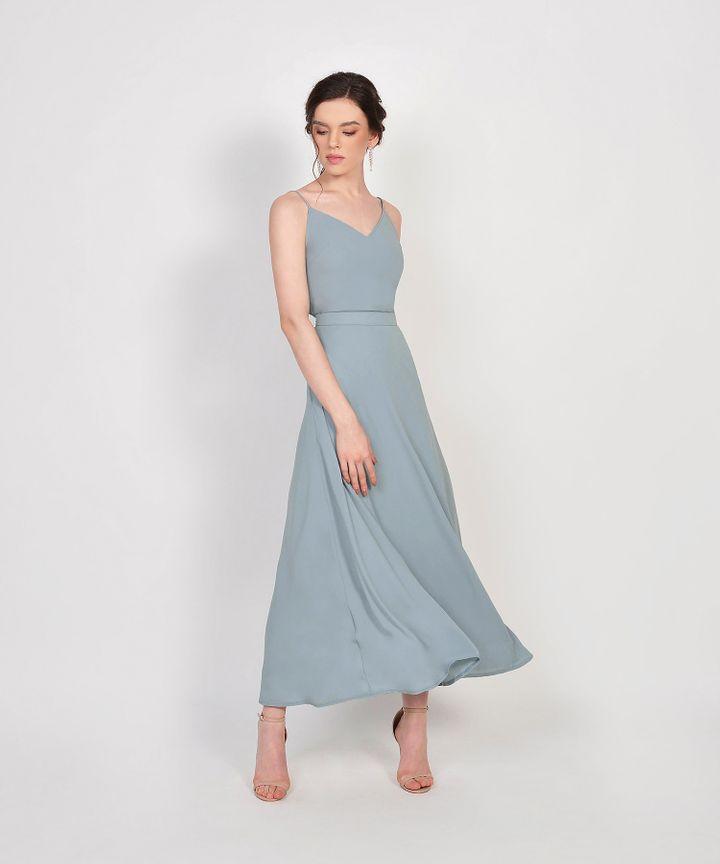 HVV Atelier Estelle Maxi Skirt - Mist Blue