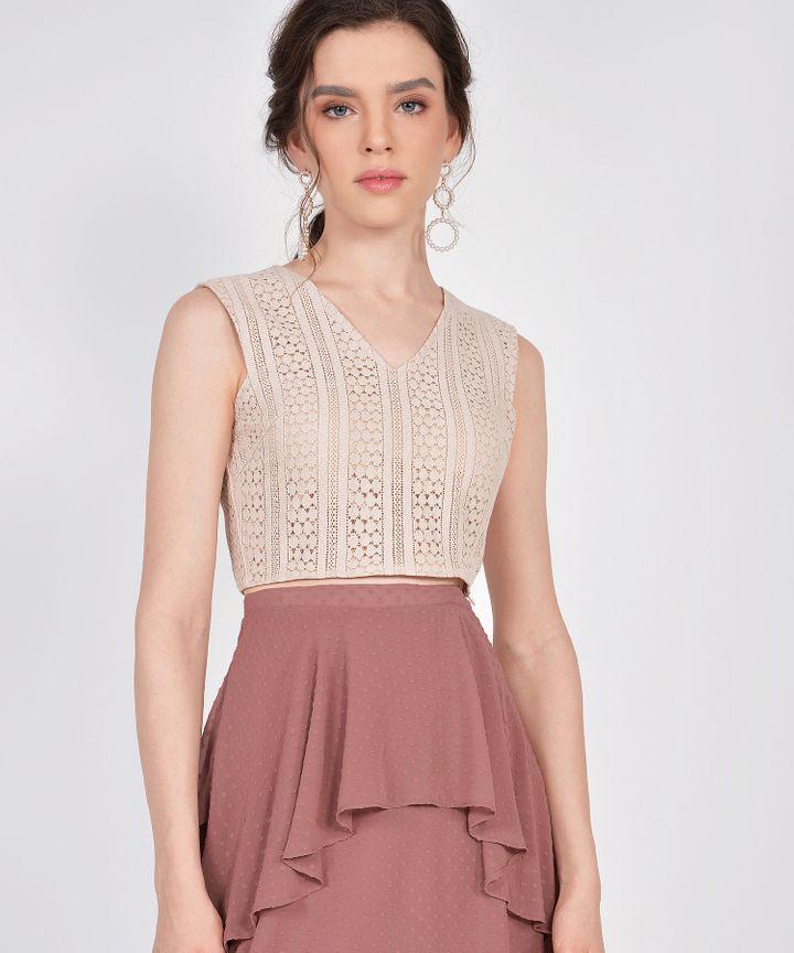 Whimsy Textured Skirt - Redwood