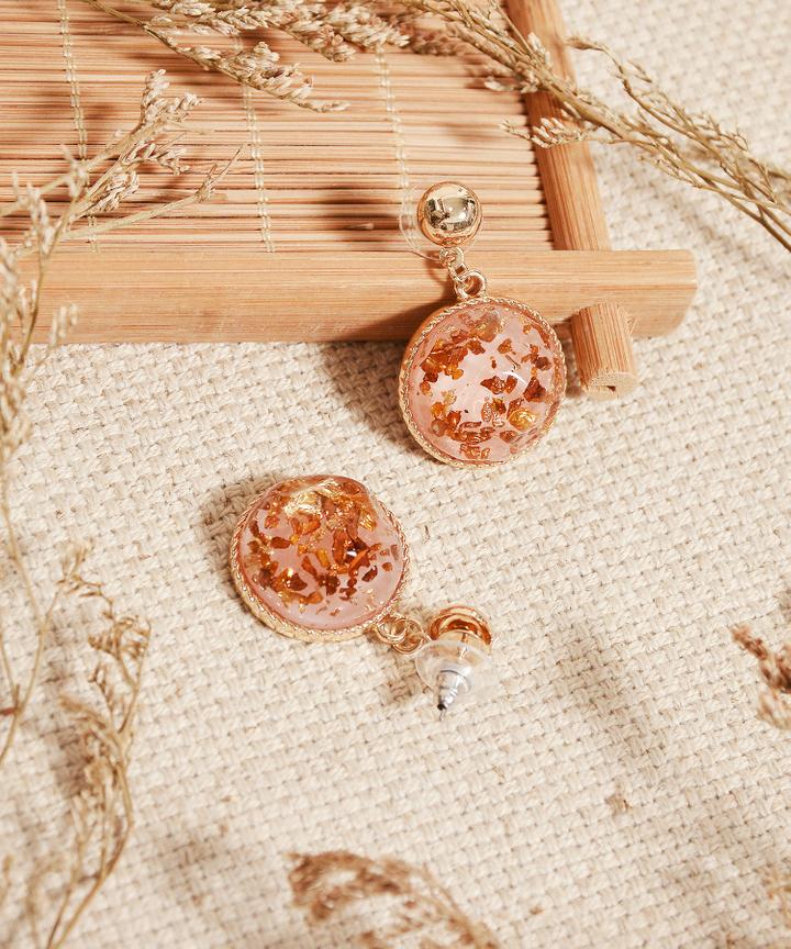 Venice Speckled Earrings - Pink (Restock)