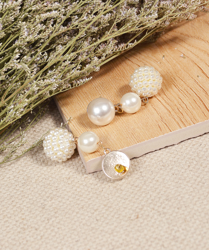 Tante Tiered Pearl Earrings (Restock)