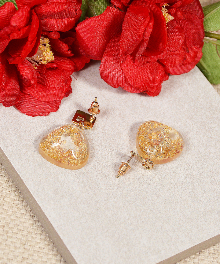 Zelda Speckled Earrings - Gold (Restock)