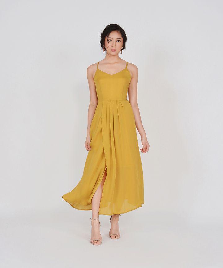 Elena Overlay Maxi - Mustard