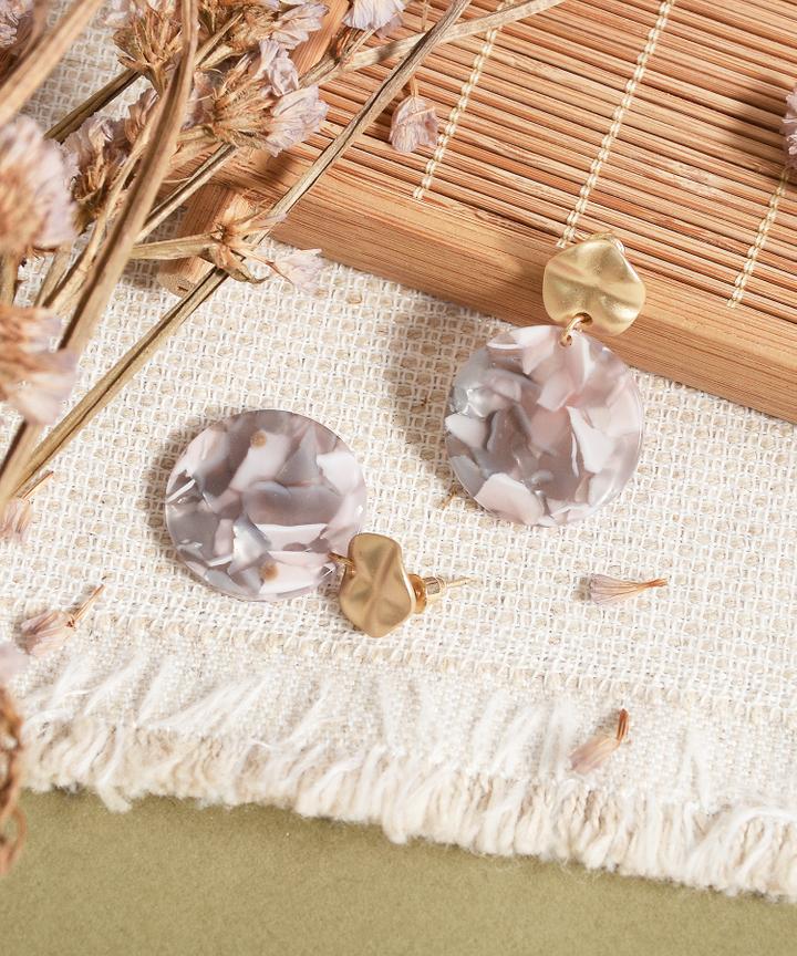 Lavena Marble Earrings