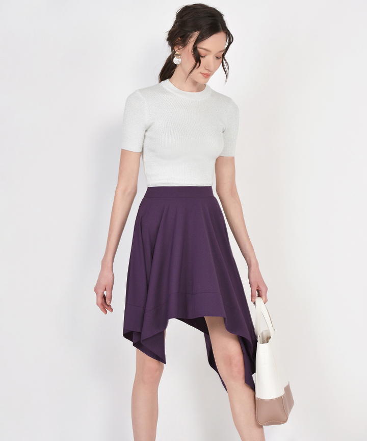 Cascade Asymmetrical Skirt - Royal Purple