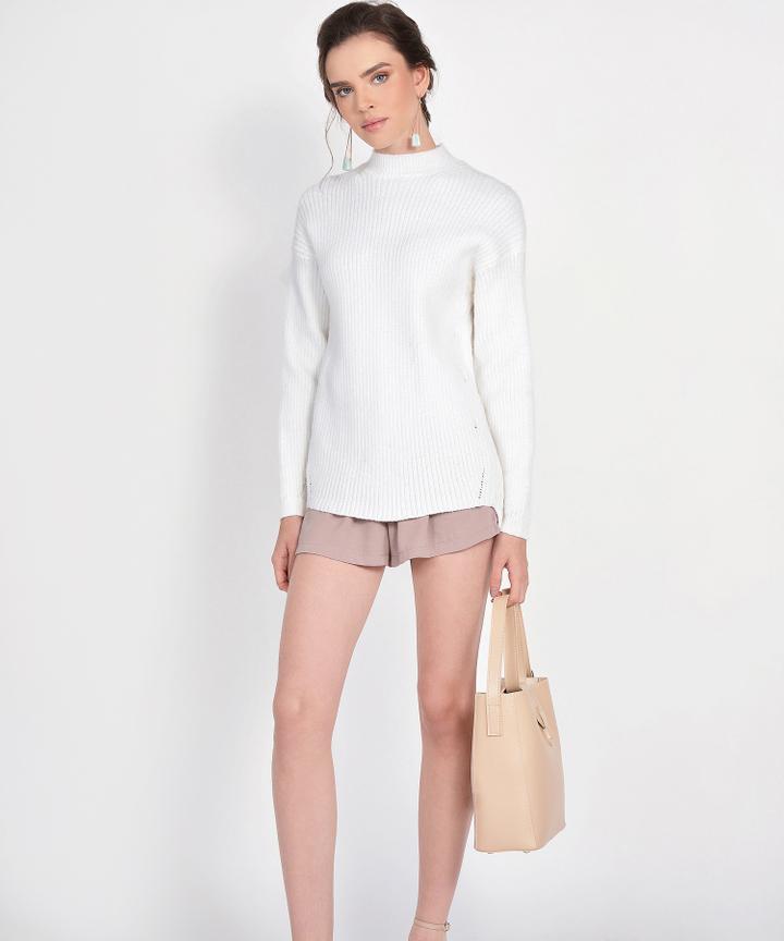 Elise Knit Sweater - White