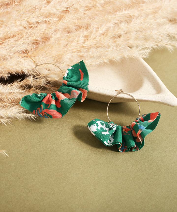 Cassia Floral Hoop Earrings
