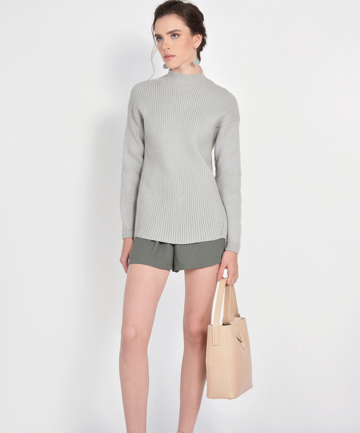 Elise Knit Sweater - Grey
