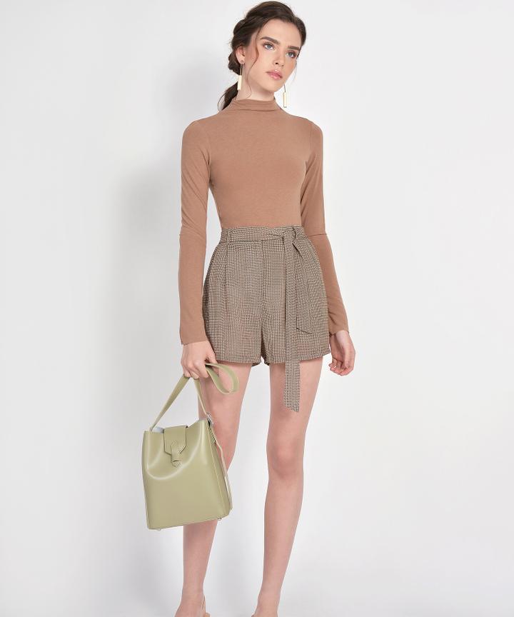Mara Long-Sleeved Basic Top - Mocha