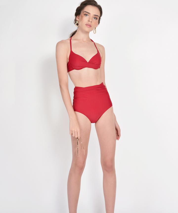 Skye High Waist Bikini - Garnet