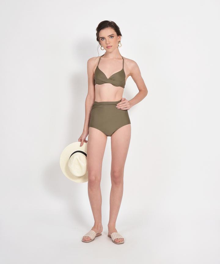 Skye High Waist Bikini - Olive