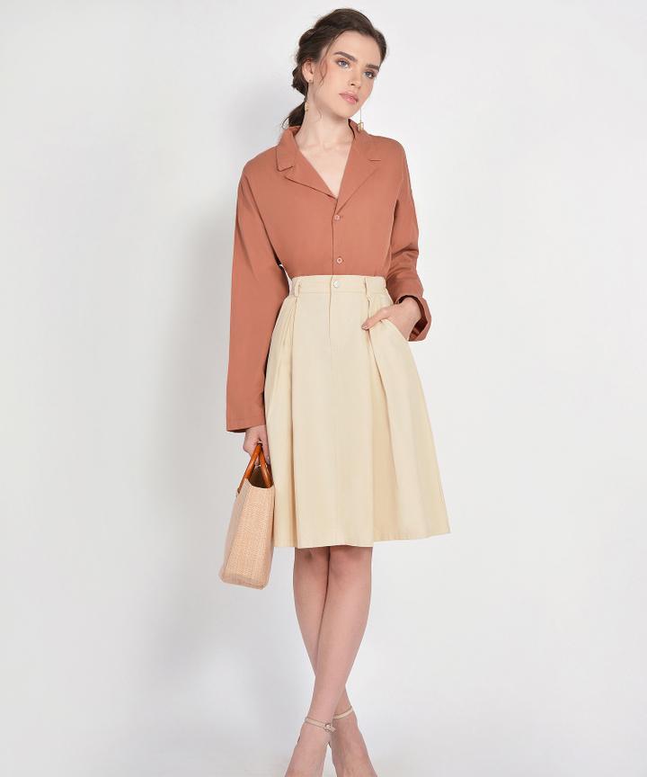 County Midi Skirt - Cream