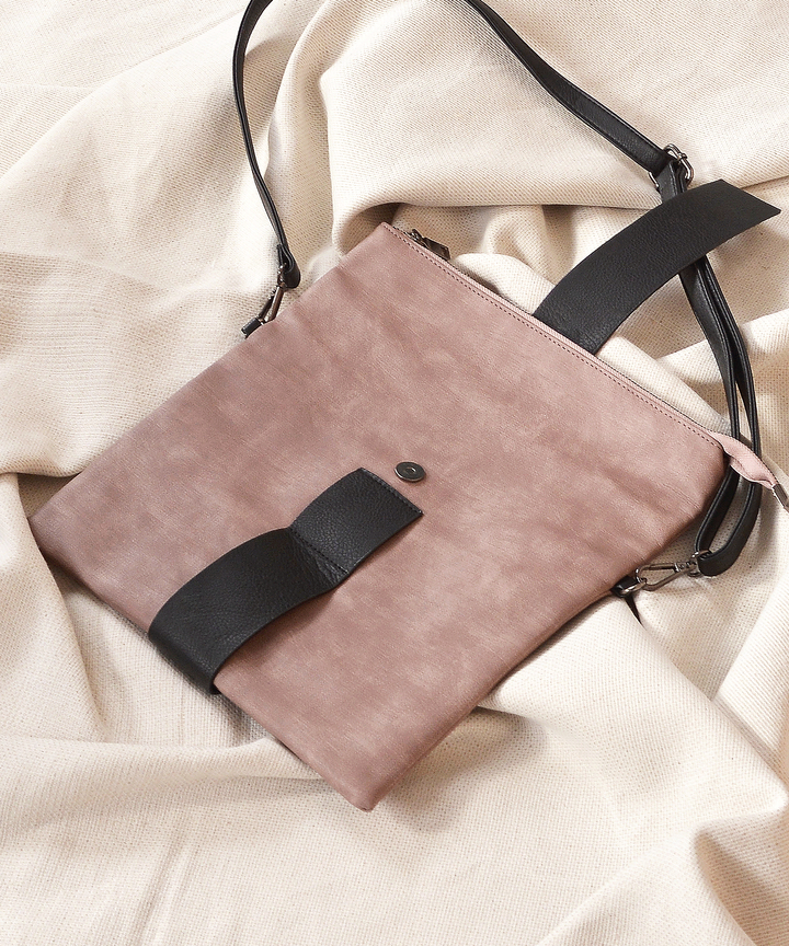 Sahara Messenger Purse - Pale Mauve