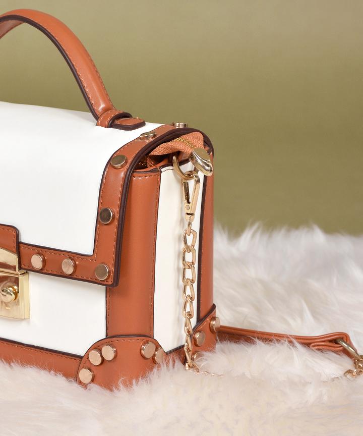 Ricci Stud Bag - White