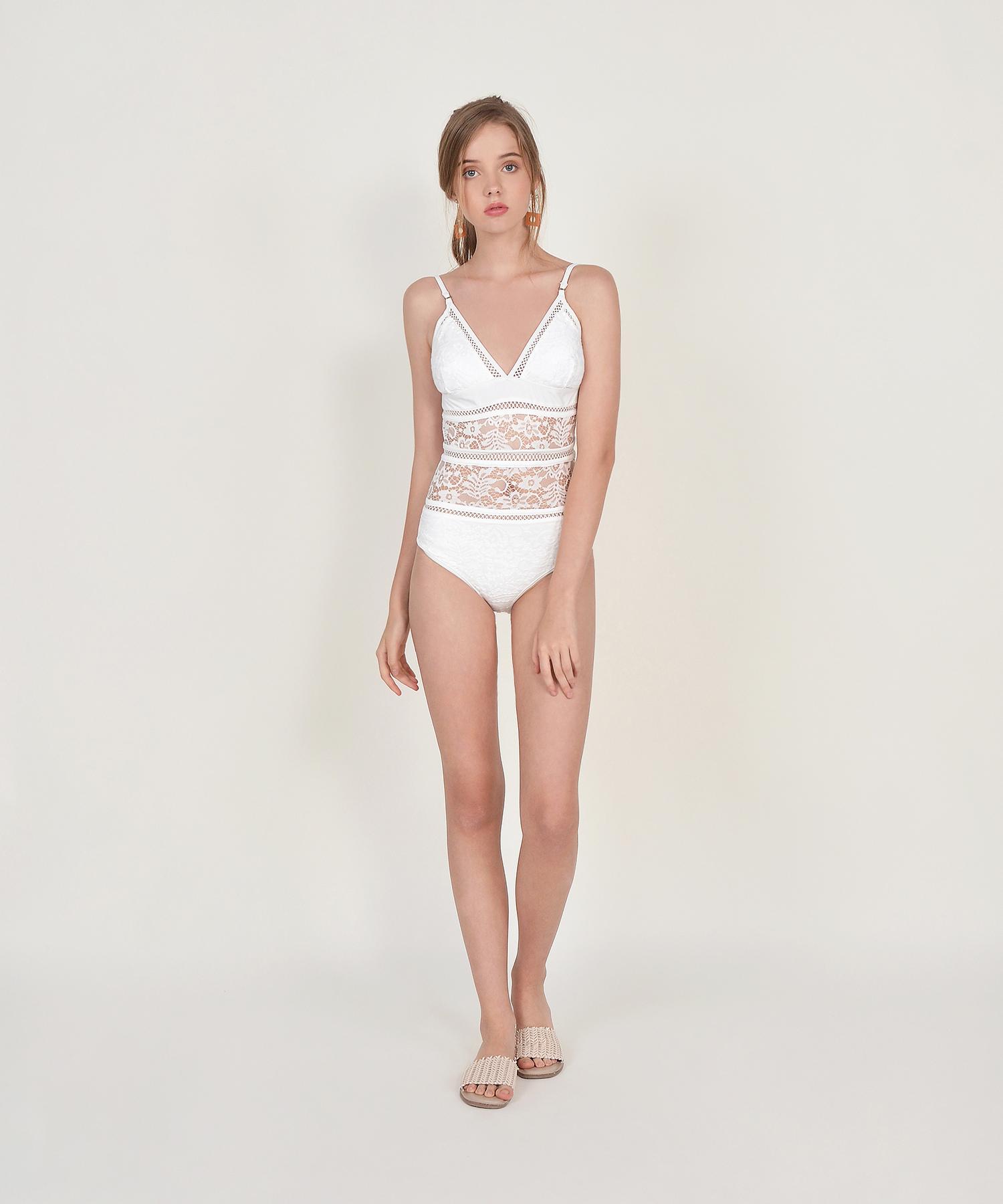 91cd24a8bed06 Talia Crochet Swimsuit - White | hervelvetvase