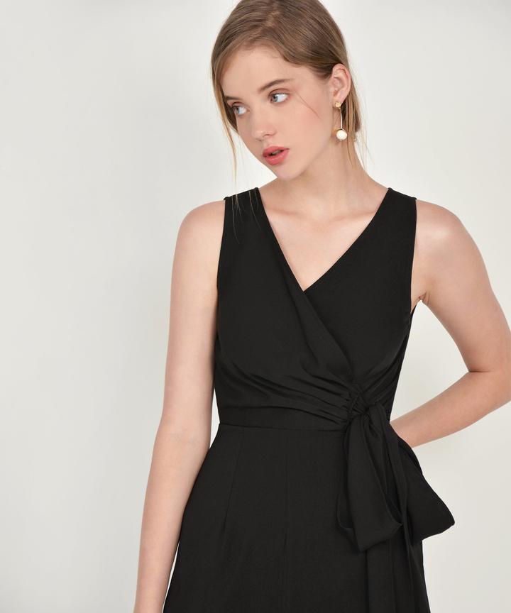 Ambrosia Wrap Jumpsuit - Black
