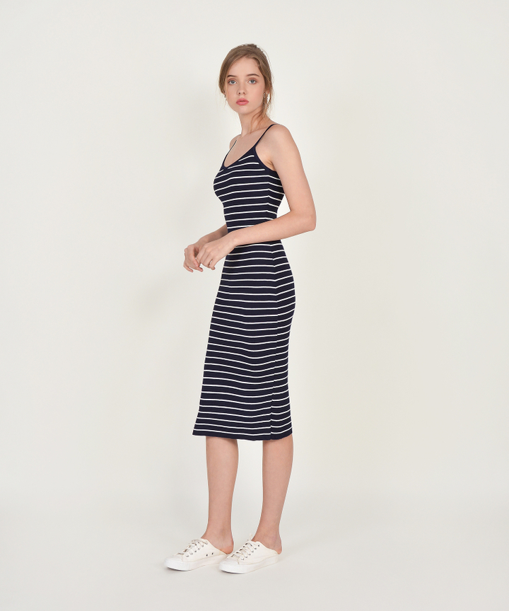 Brigitte Striped Knit Midi