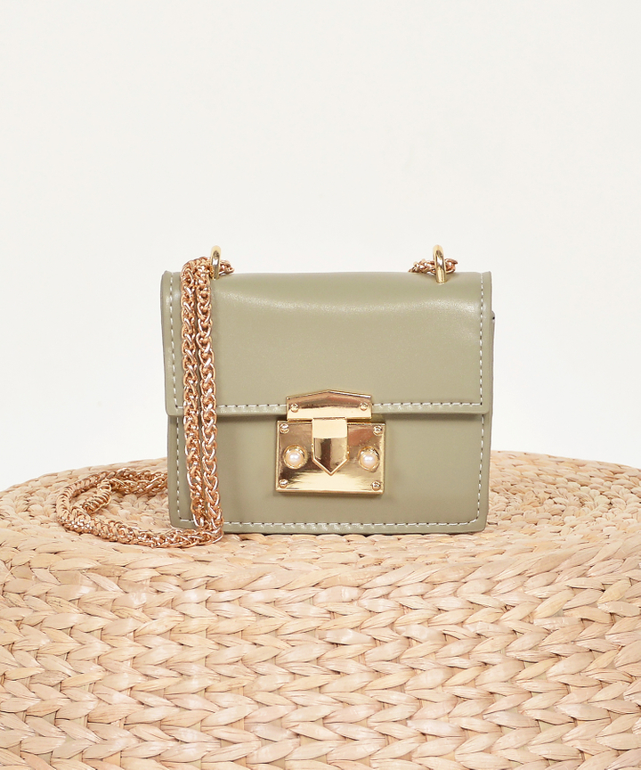 Lyon Shoulder Bag - Pale Olive