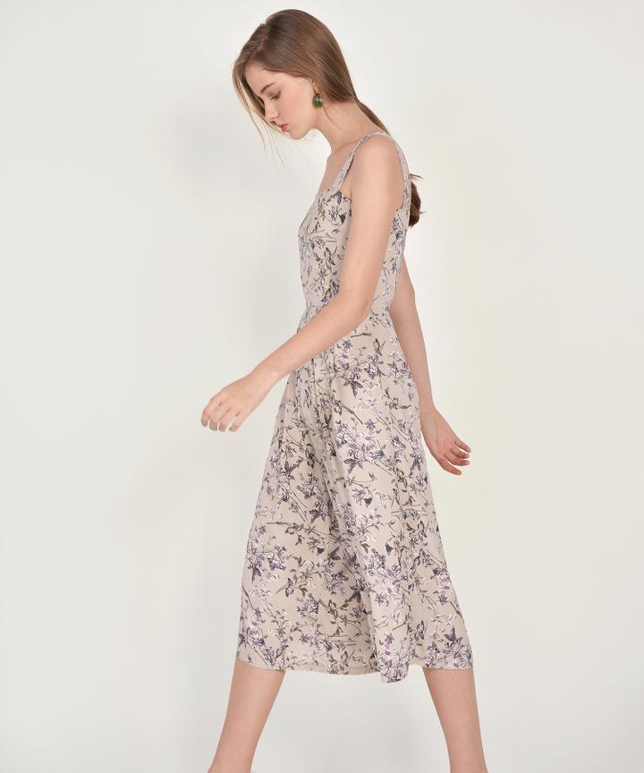 Elowen Floral Jumpsuit - Pale Sand