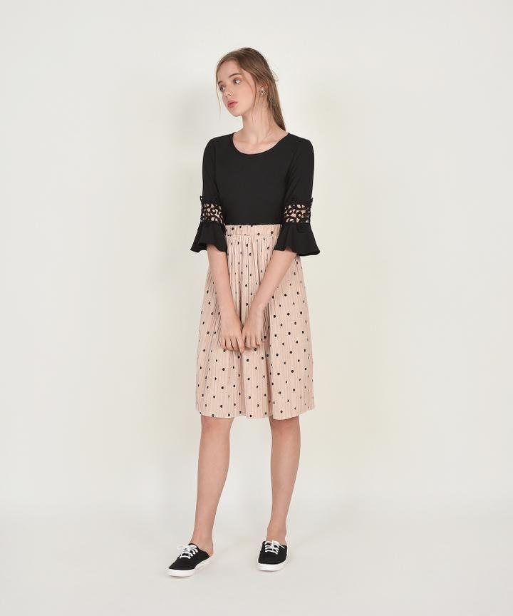 Mocha Polka Dot Skirt