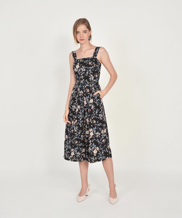 Elowen Floral Jumpsuit - Black