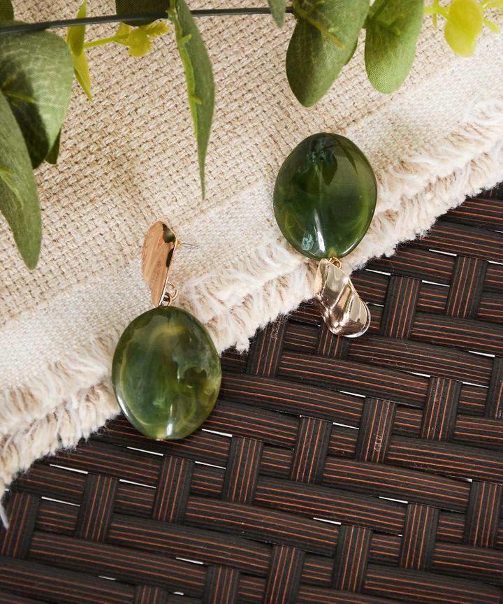 Azra Earrings - Green