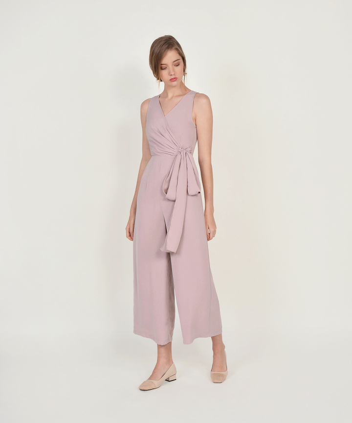 Ambrosia Wrap Jumpsuit - Dust Pink