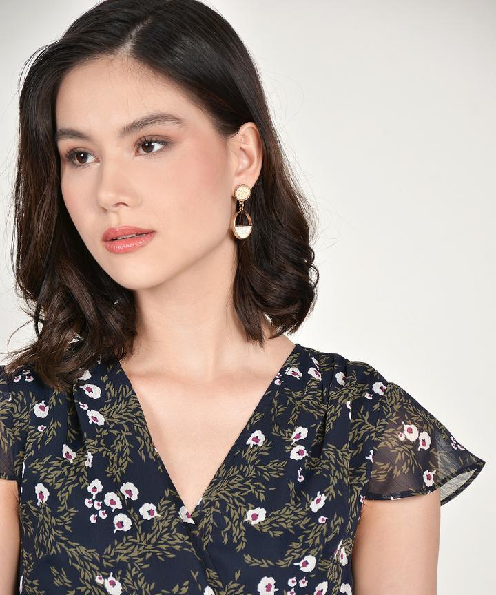 Ella Woven Semi Circle Earrings