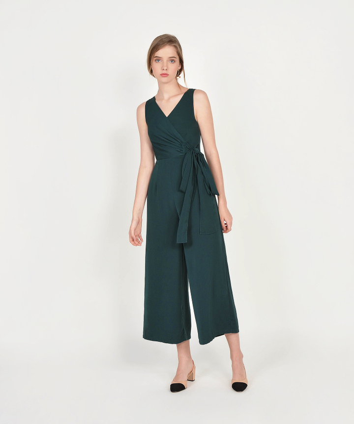 Ambrosia Wrap Jumpsuit - Lush Green