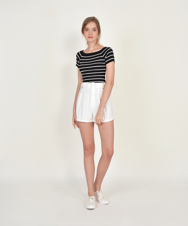 Leroy Striped Knit Tee - Black