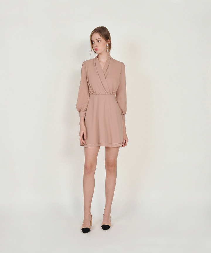 Tjin Overlay Dress - Nude Pink (Restock)
